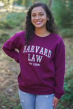 Harvard Law Sweatshirt - Maroon
