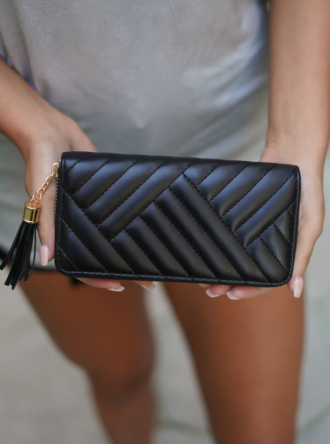 Quilted Black Wallet