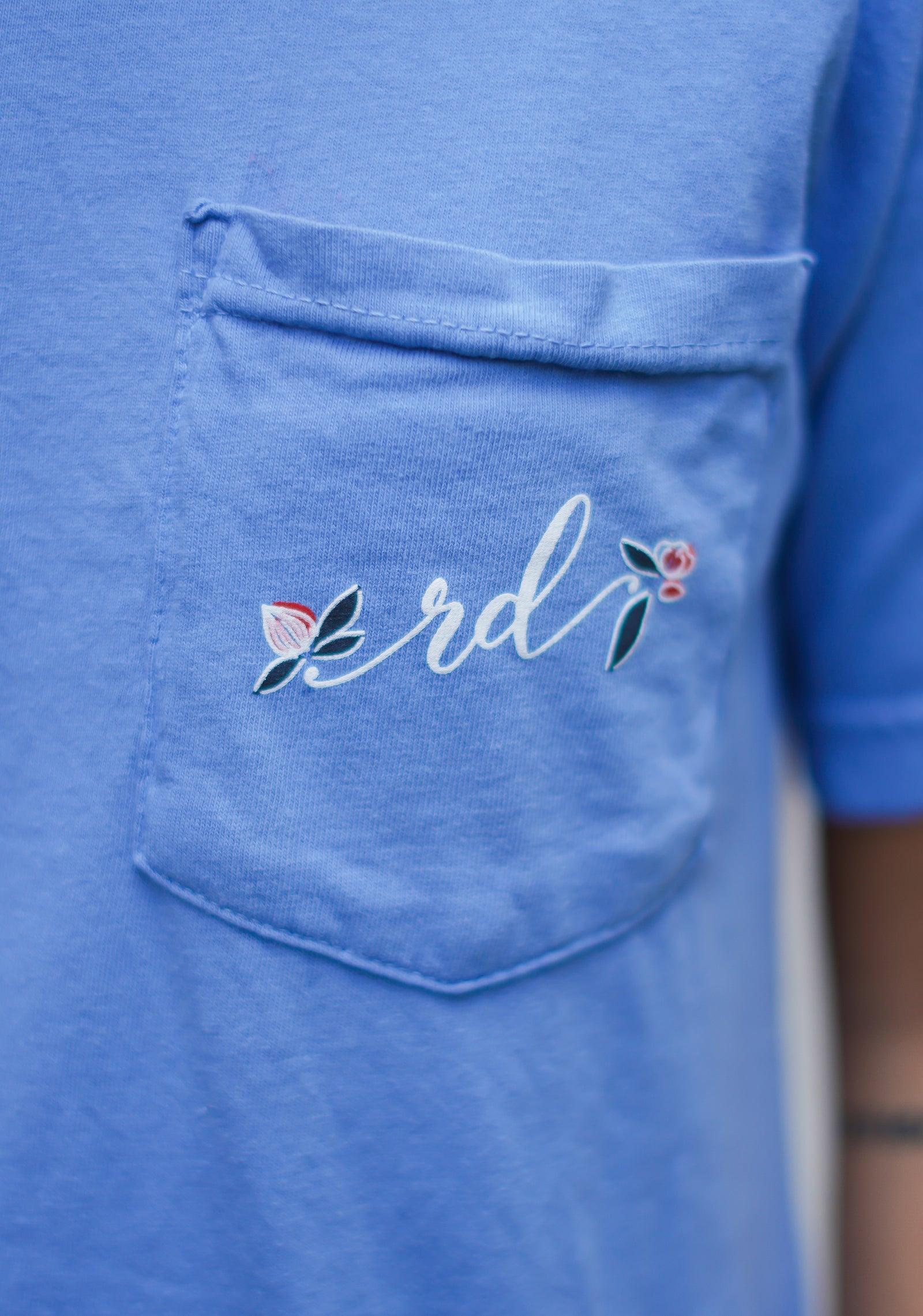 4th of July Logo Tee - Washed Denim