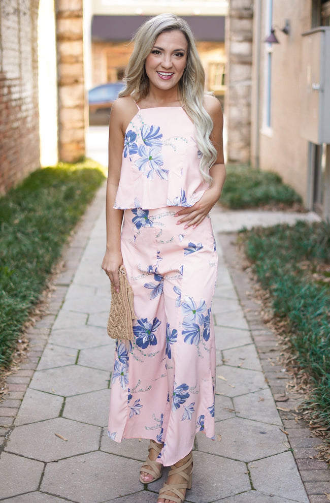 Peach Print 2 Piece Set