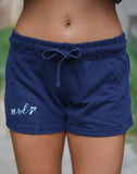 Rosie Daze Logo French Terry Shorts - True Navy