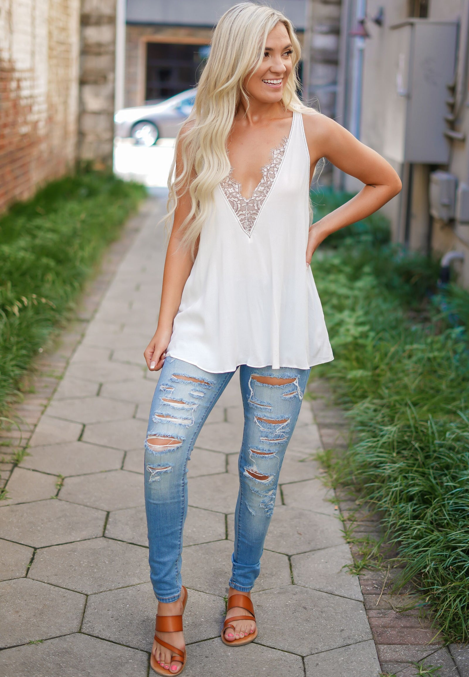 Finesse Lace Cami
