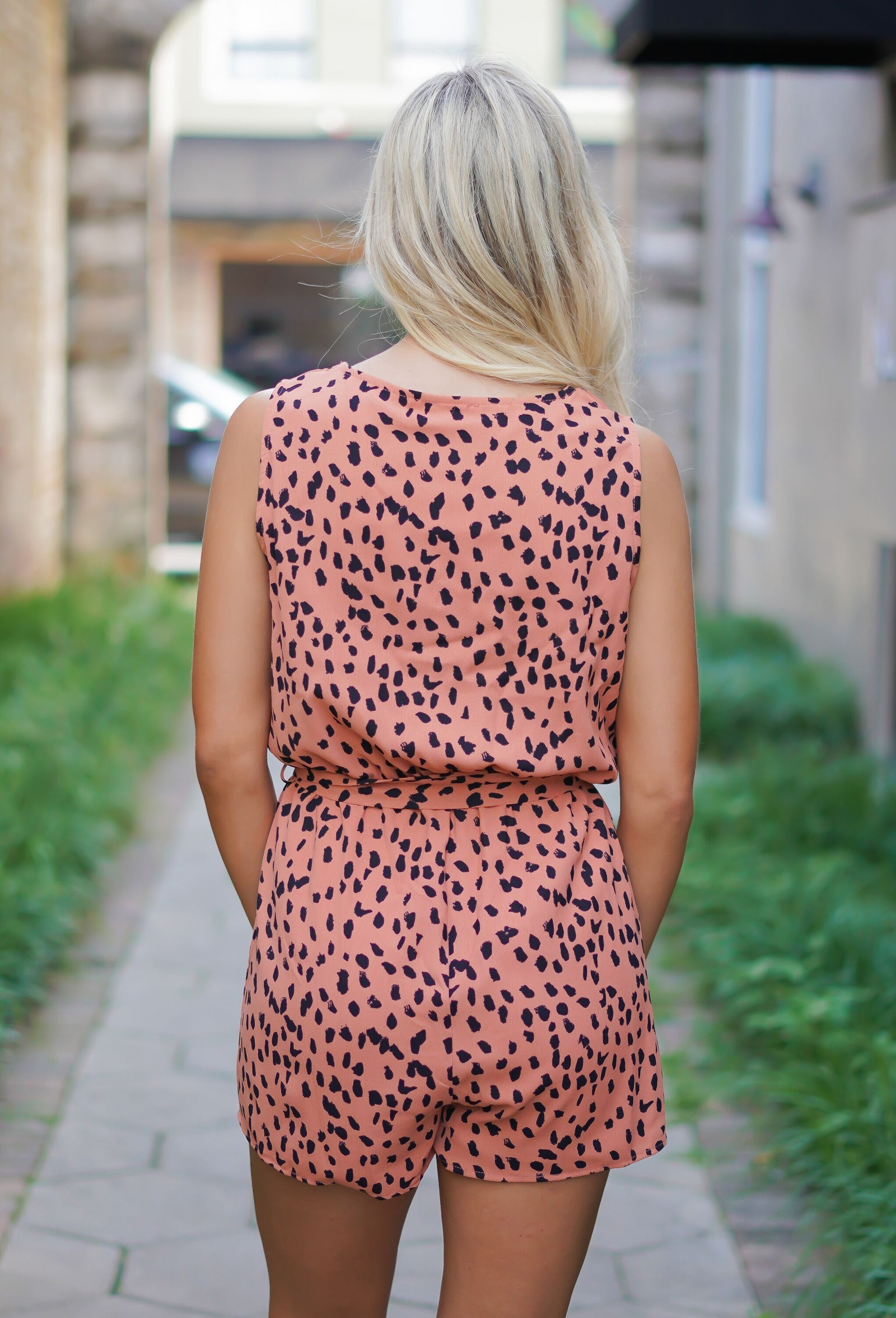 Dripping In Dots Romper