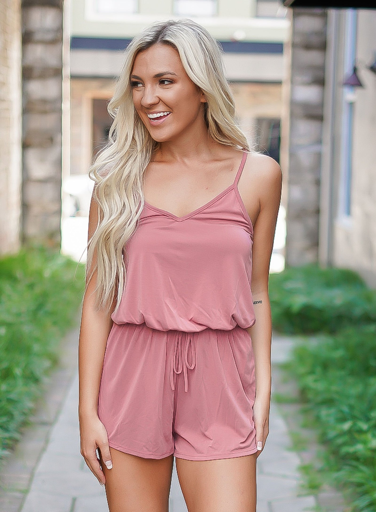 Laters Babe Romper - Mauve