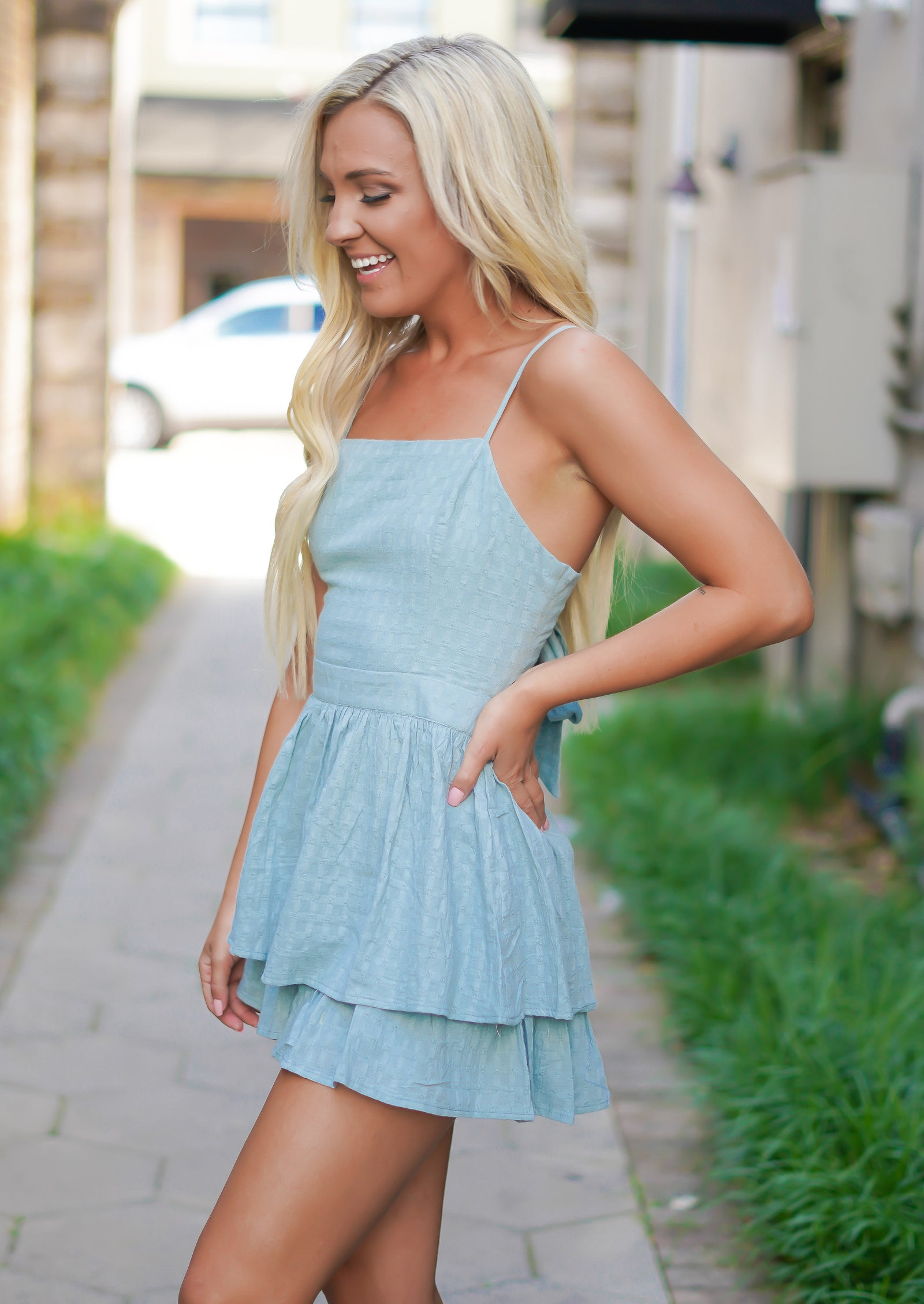 Must Have Romper - Dusty Teal