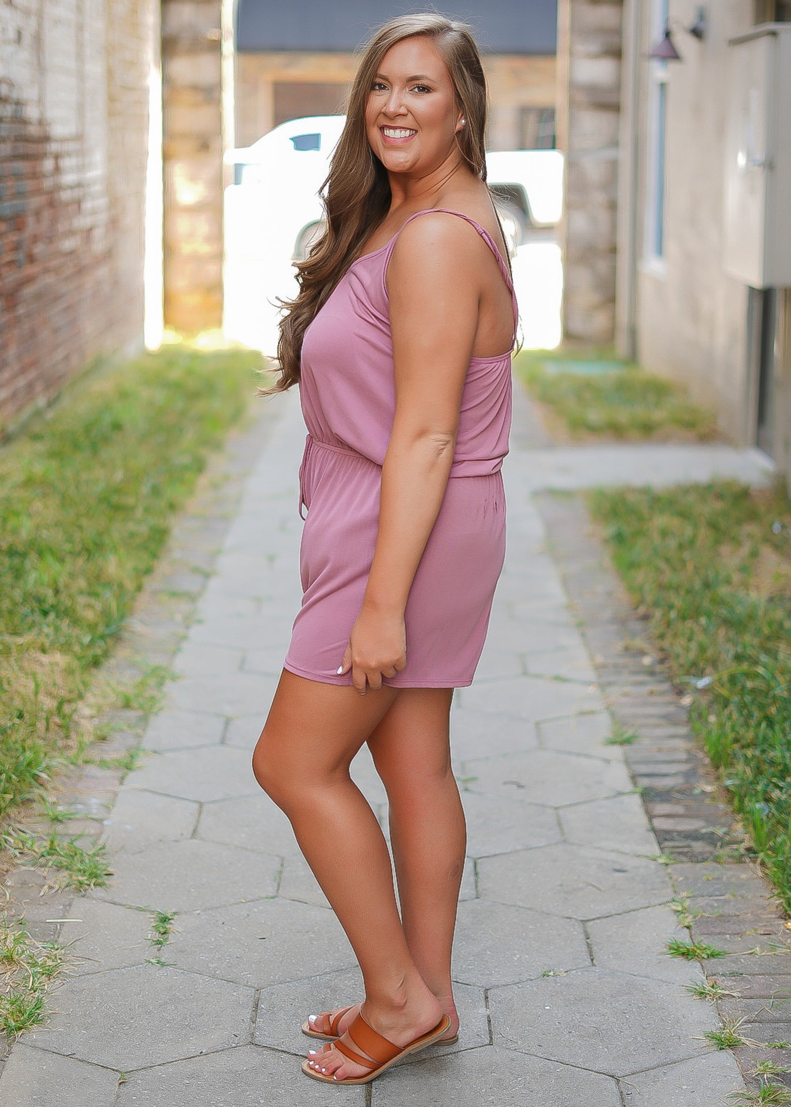 Laters Babe Romper - Curvy - Mauve