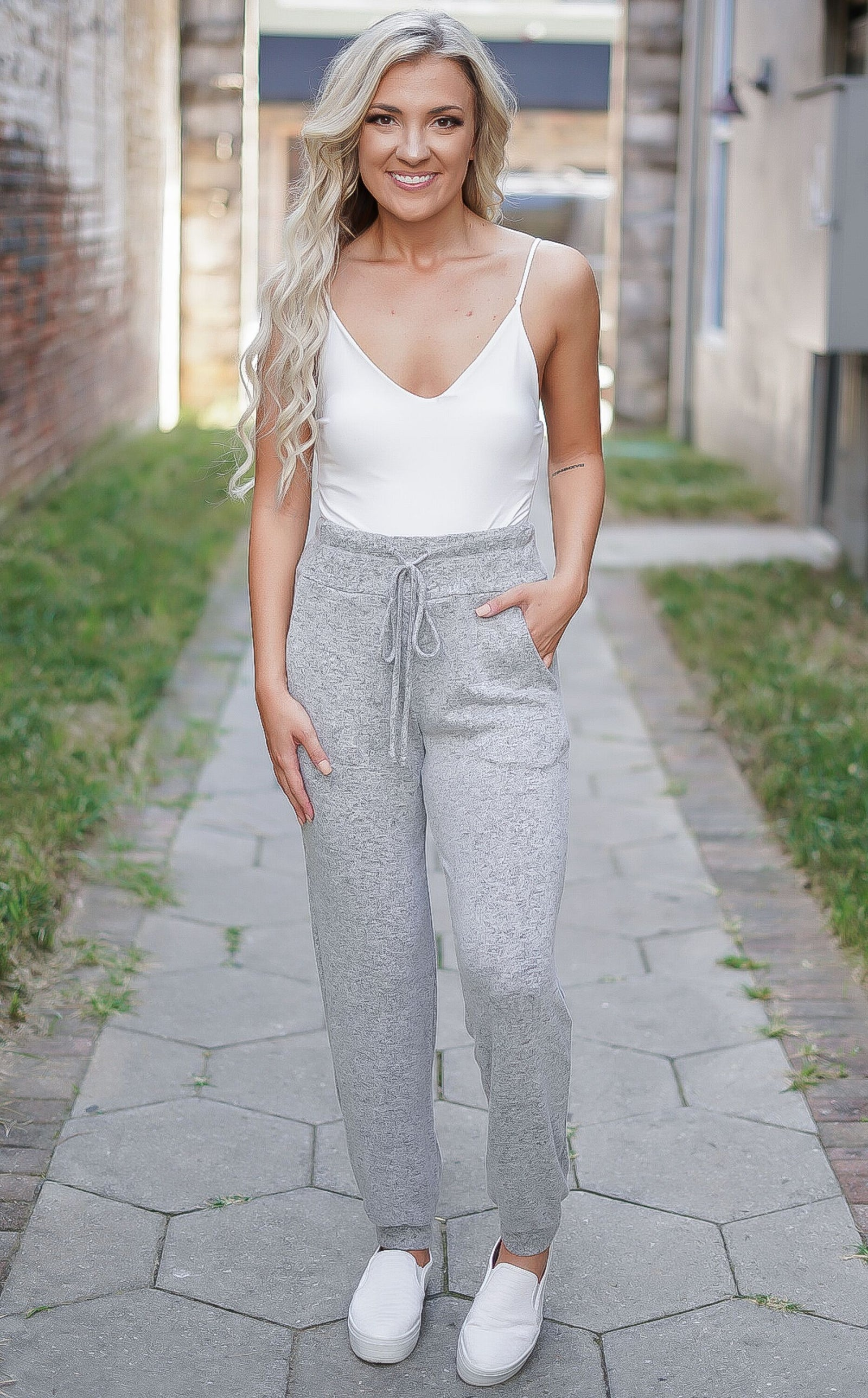 Lady Lounge Pants - Heather Grey