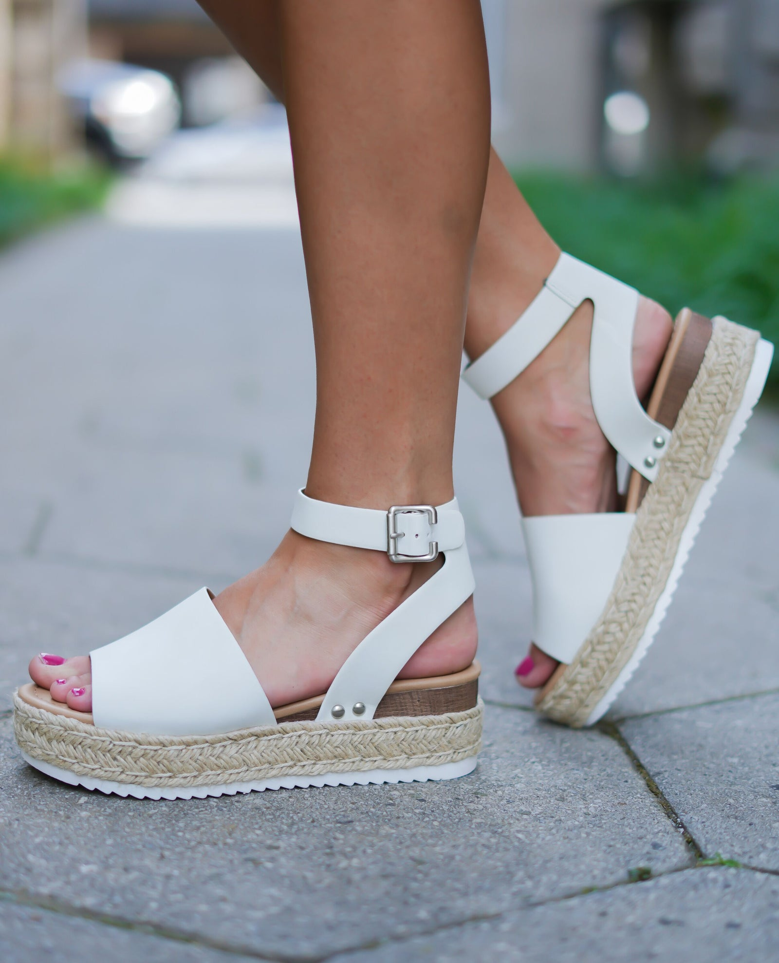 White Espadrille Sandals