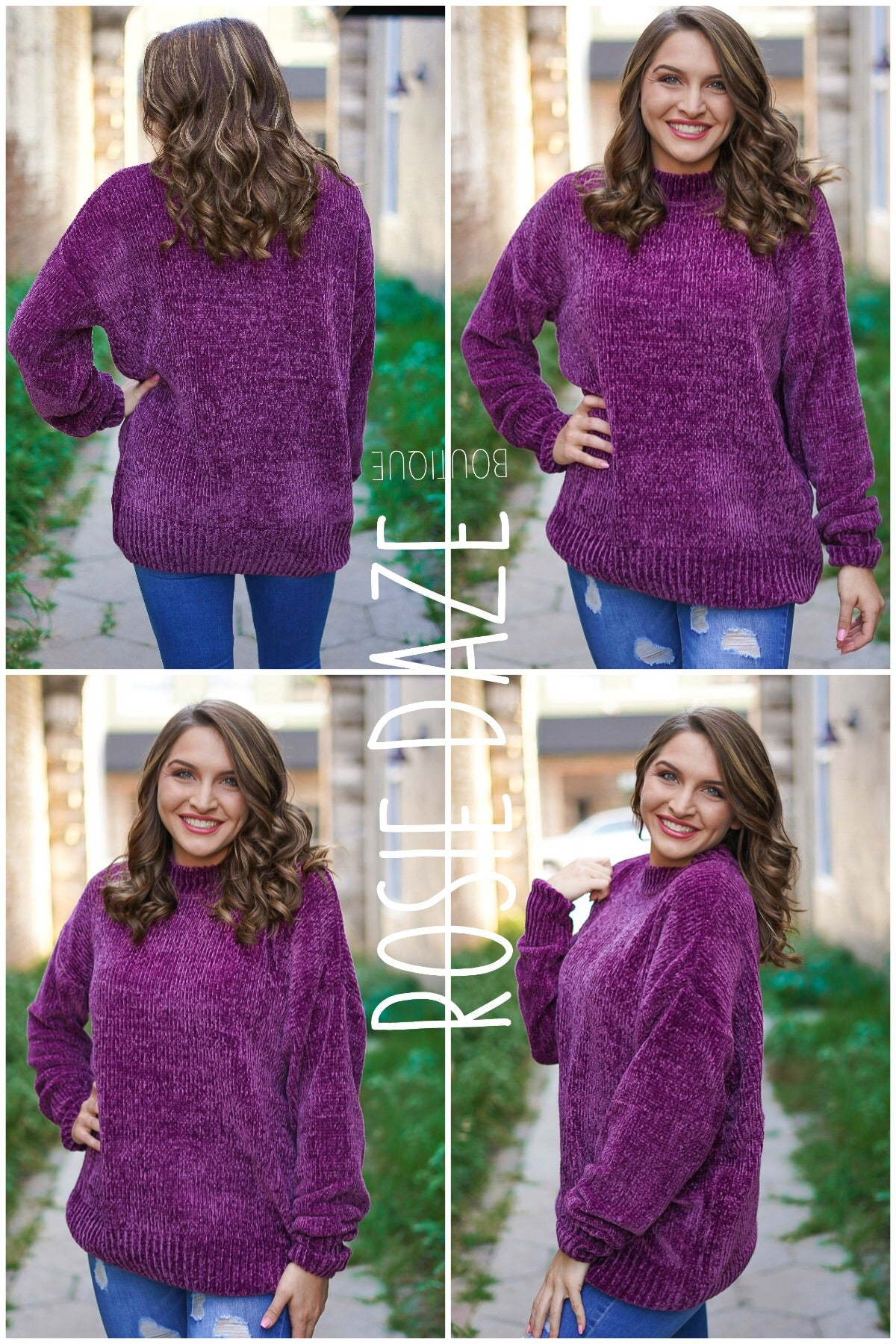 Take It Slow Sweater - Plum