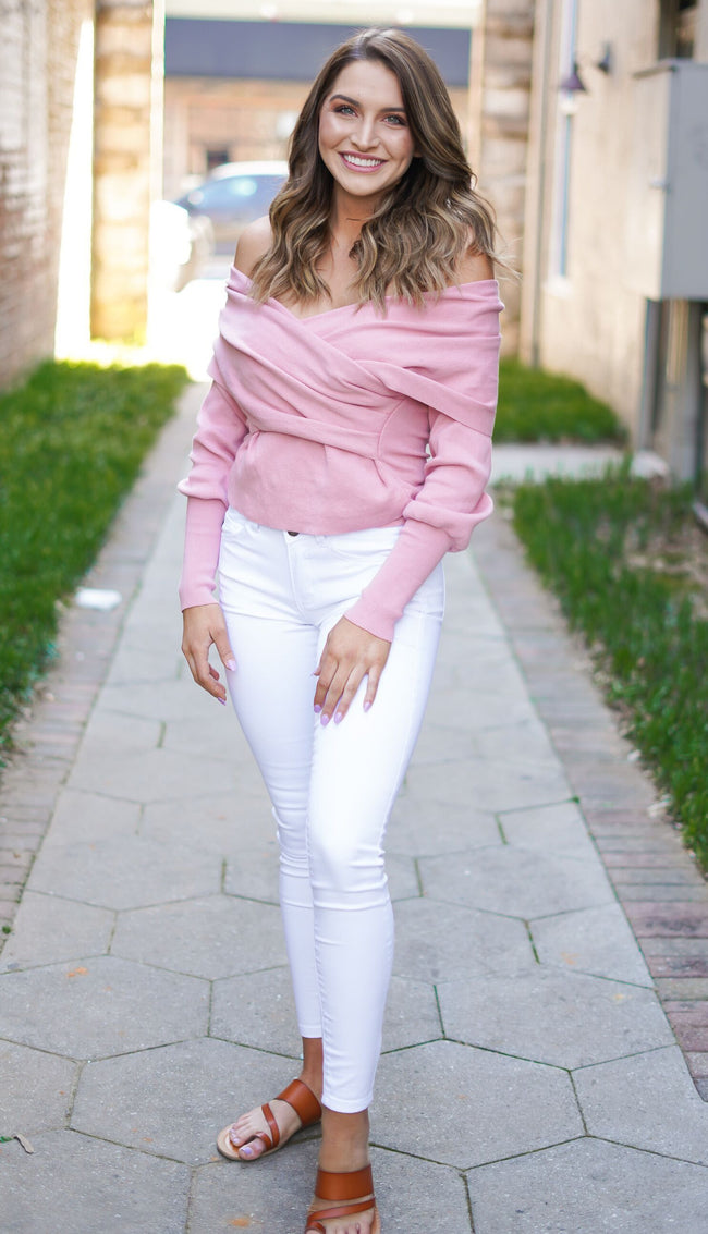 Bubblegum Wrap Top