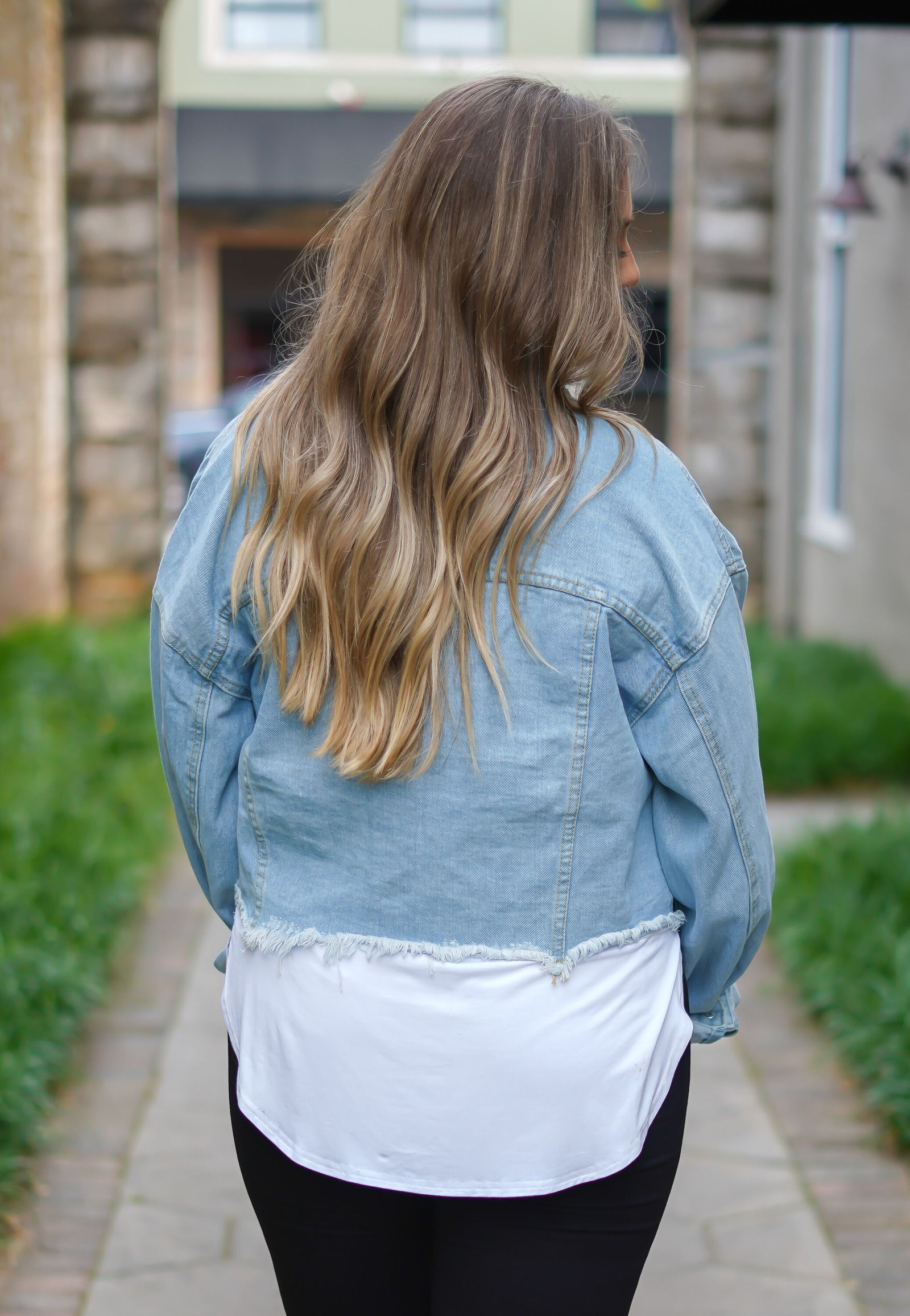 Phoenix Cropped Denim Jacket