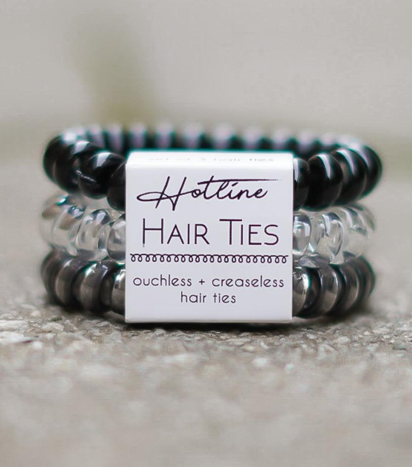 Got Your Back Hair Ties - Black Diamond