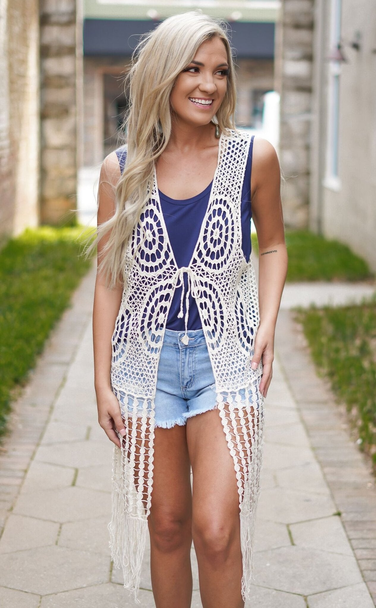 Flower Child Fringe Vest