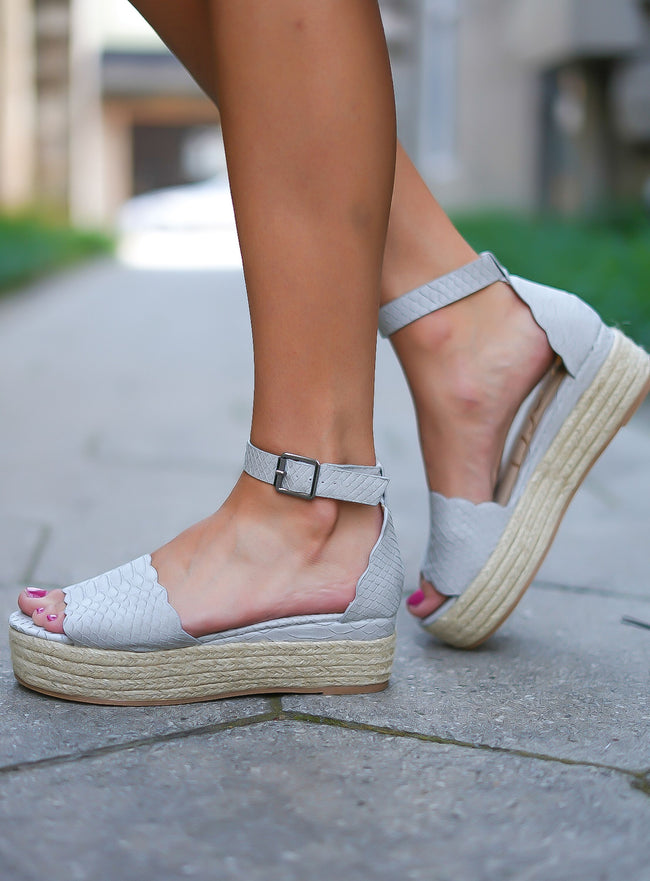 Everlyn Espadrilles - Grey