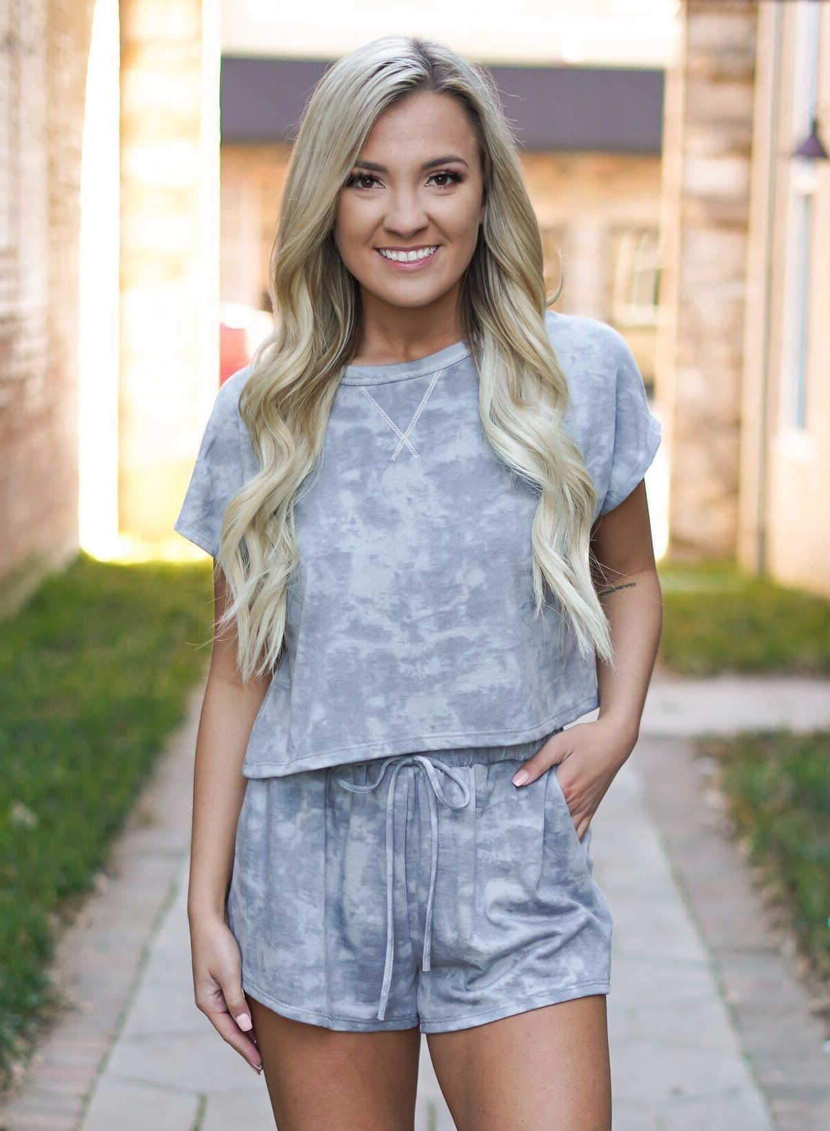 Ember Short Set - Grey