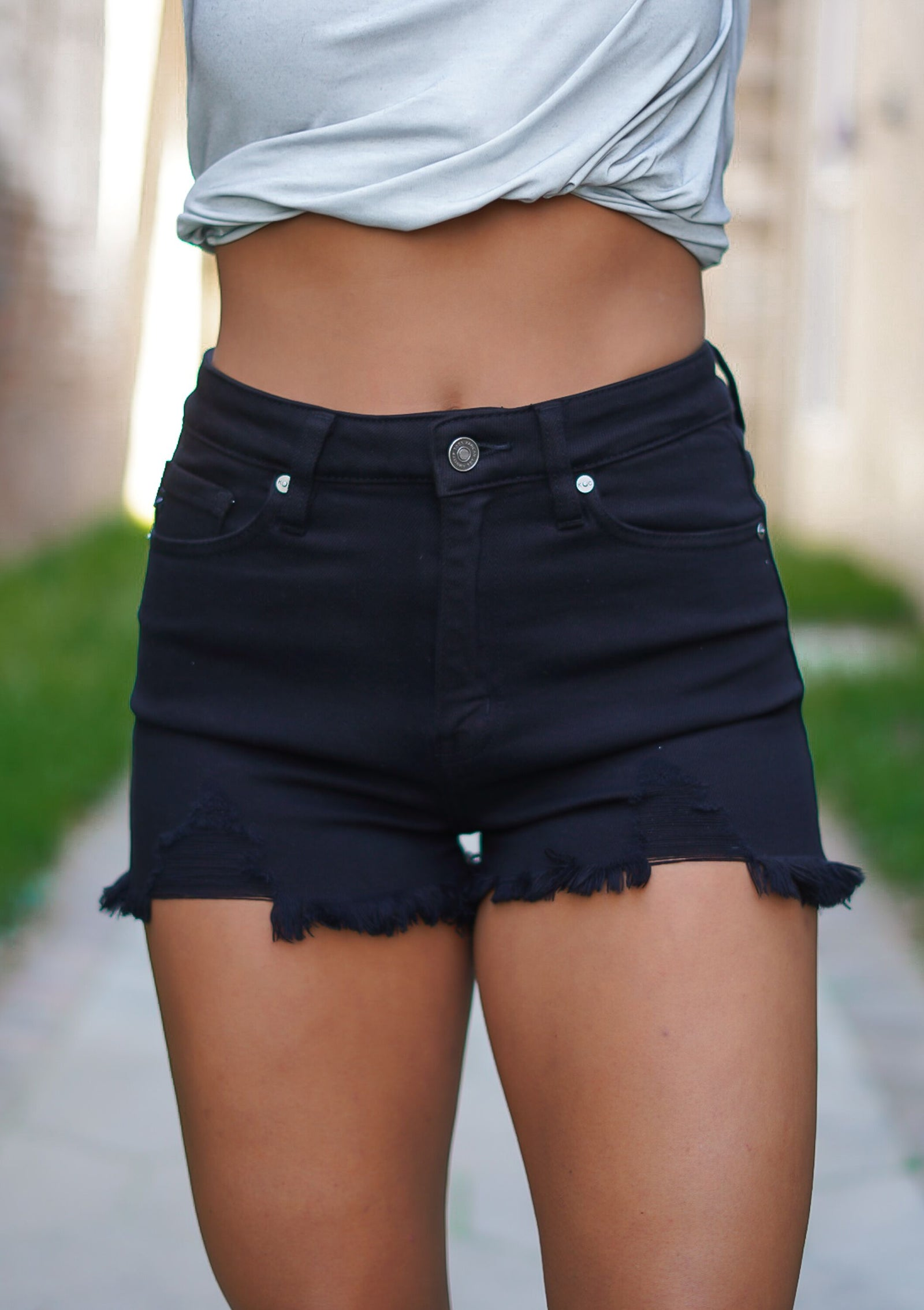 Blaise Black Kan Can Shorts