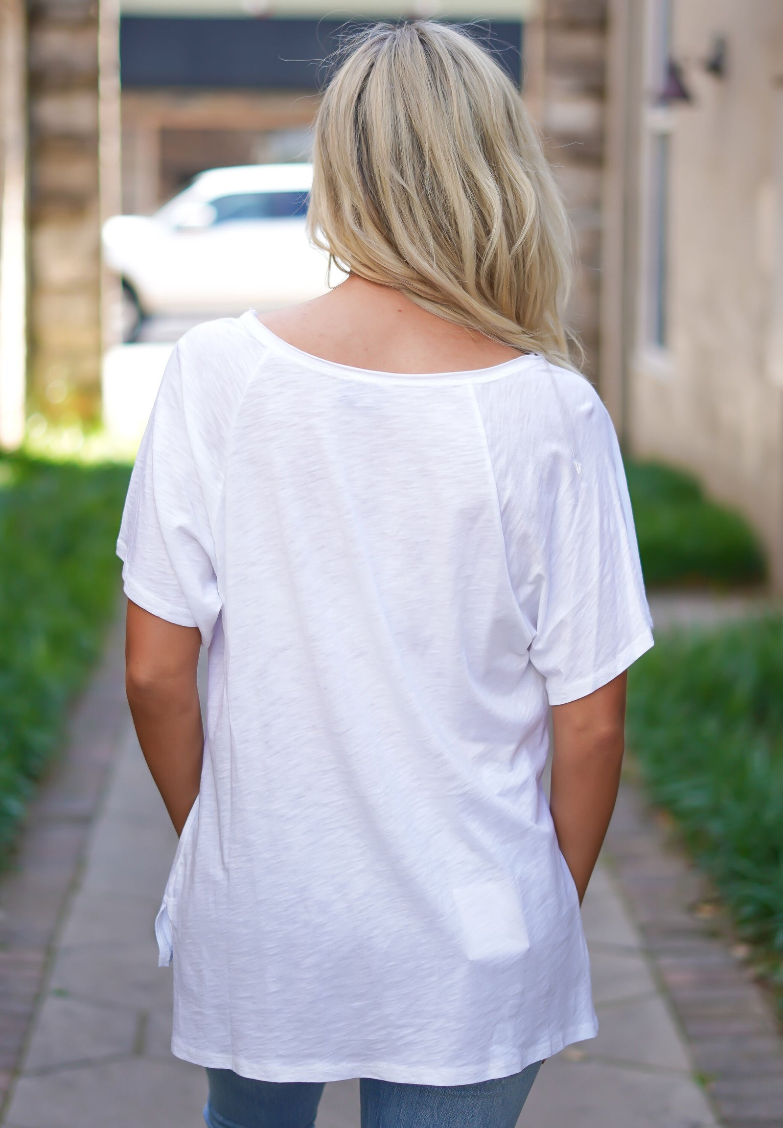 Plain White Pocket Tee - White