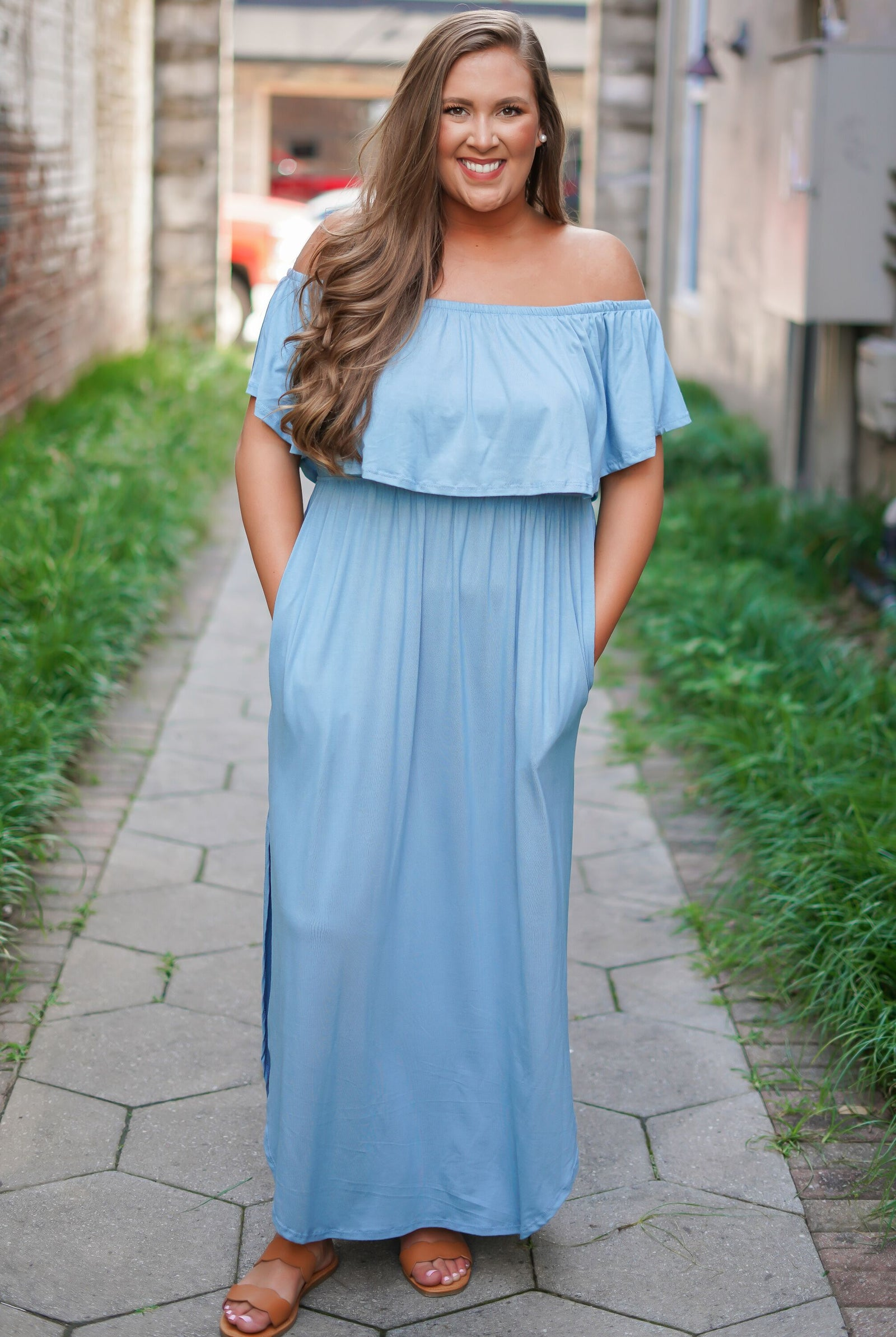 On Cloud Nine Maxi Dress - Curvy
