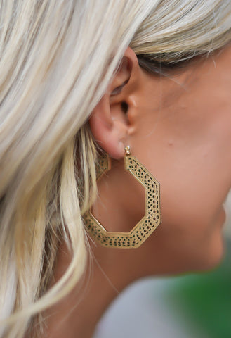 Bar Hopper Earrings - Gold