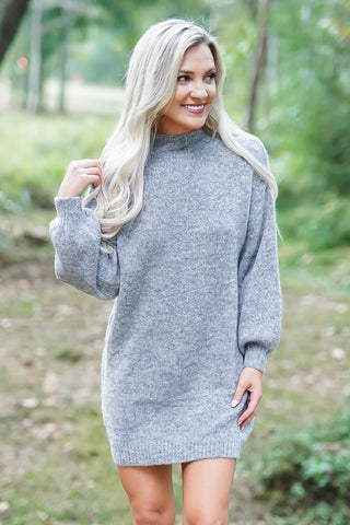 Wanna Be T-Shirt Dress- Grey