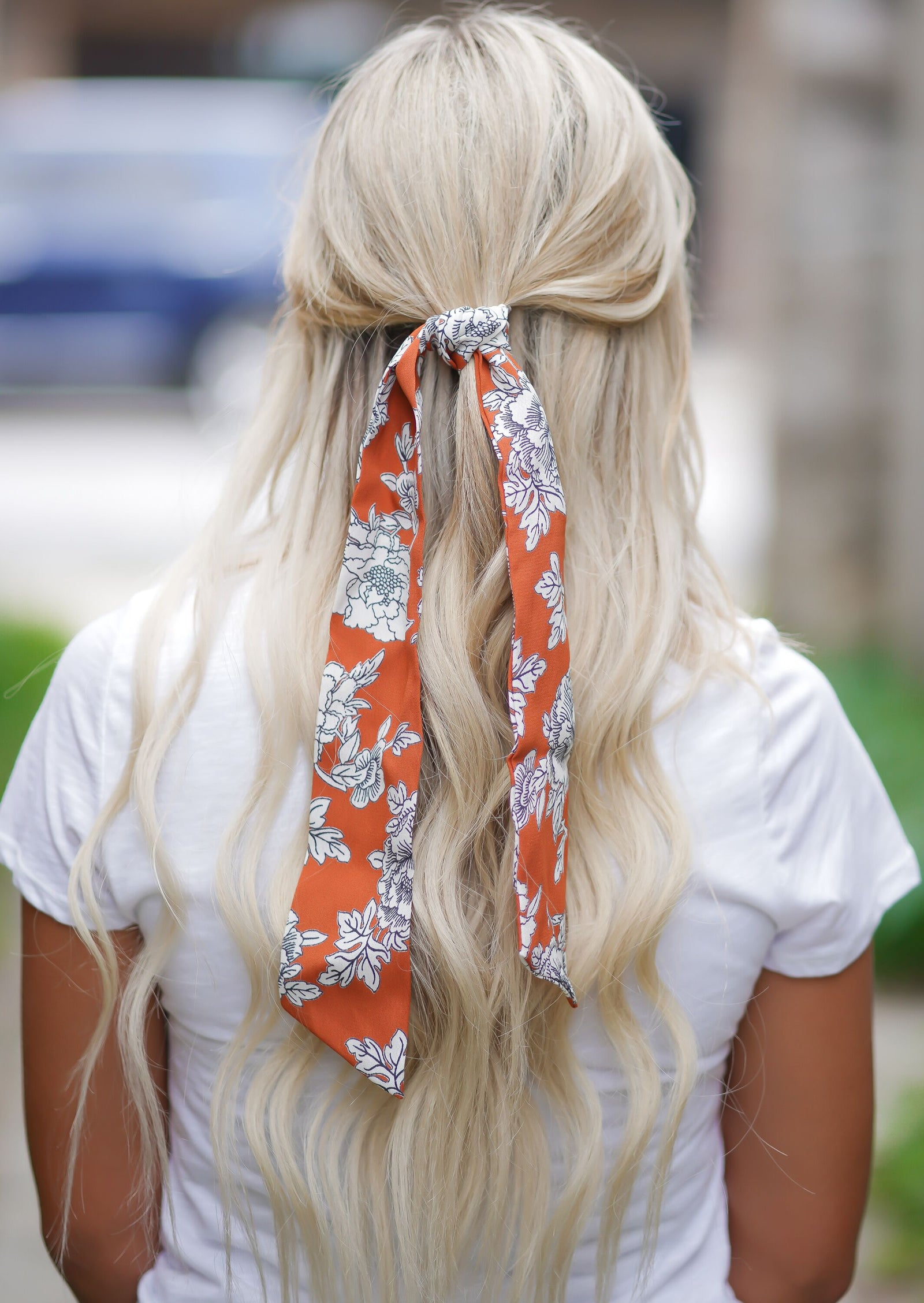 Brick Floral Hair Scarf