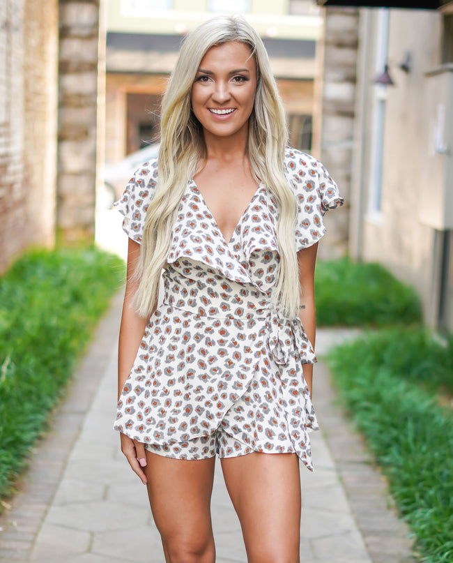 Wrap It Romper - Leopard