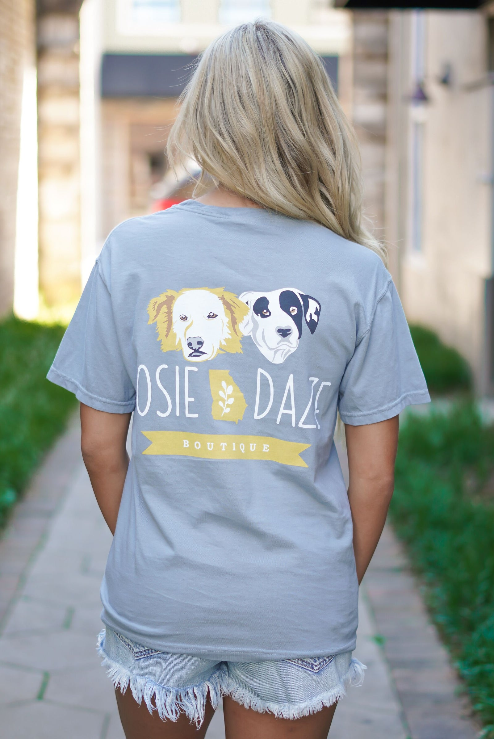 Rosie Daze Dog Logo Tee - Granite