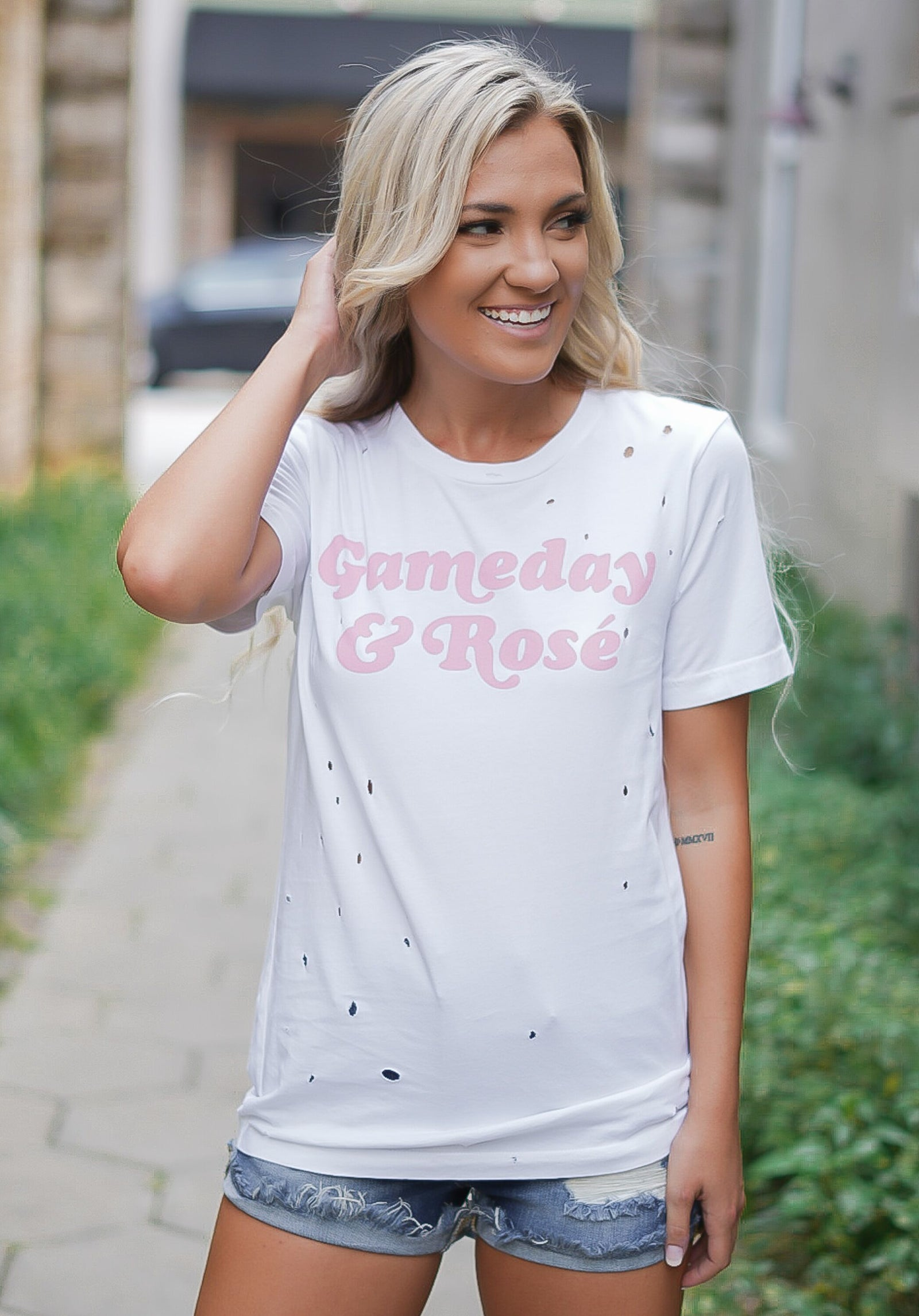 Gameday and Rose Tee