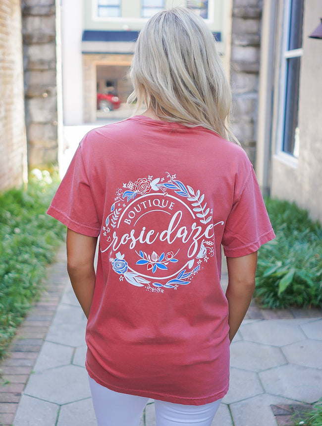 4th of July Logo Tee - Crimson