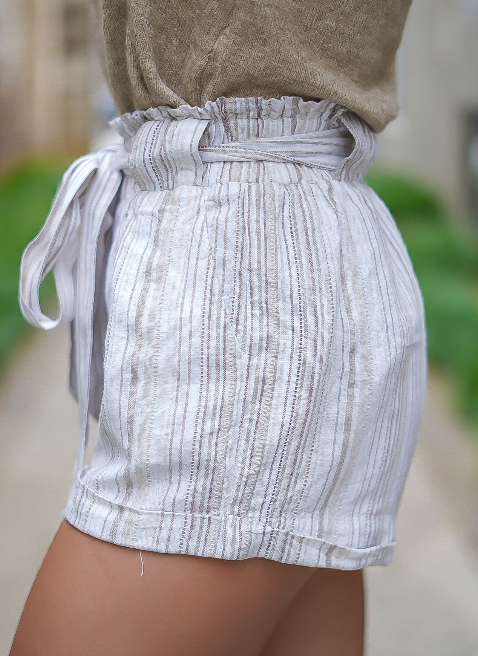 All Natural Striped Shorts
