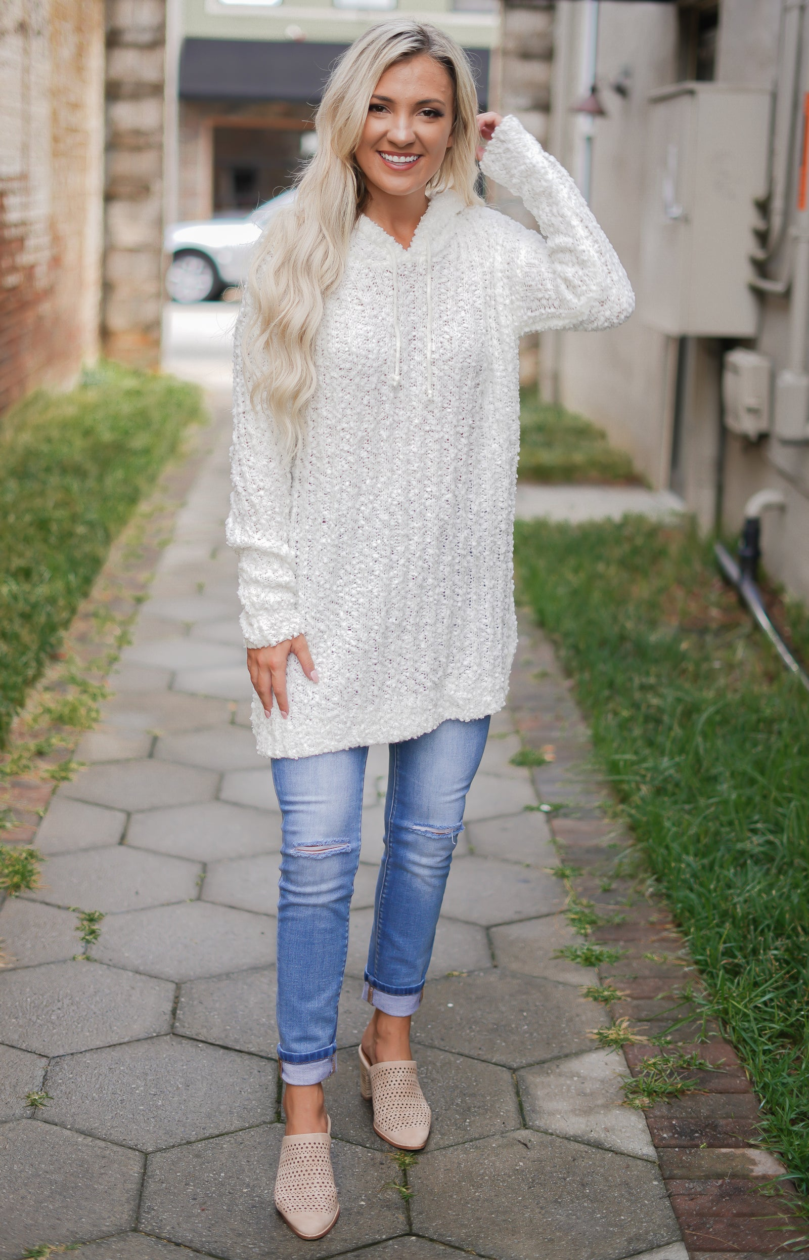 Snow Cream Sweater