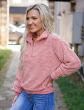 Cotton Candy Sherpa Pullover - Pink