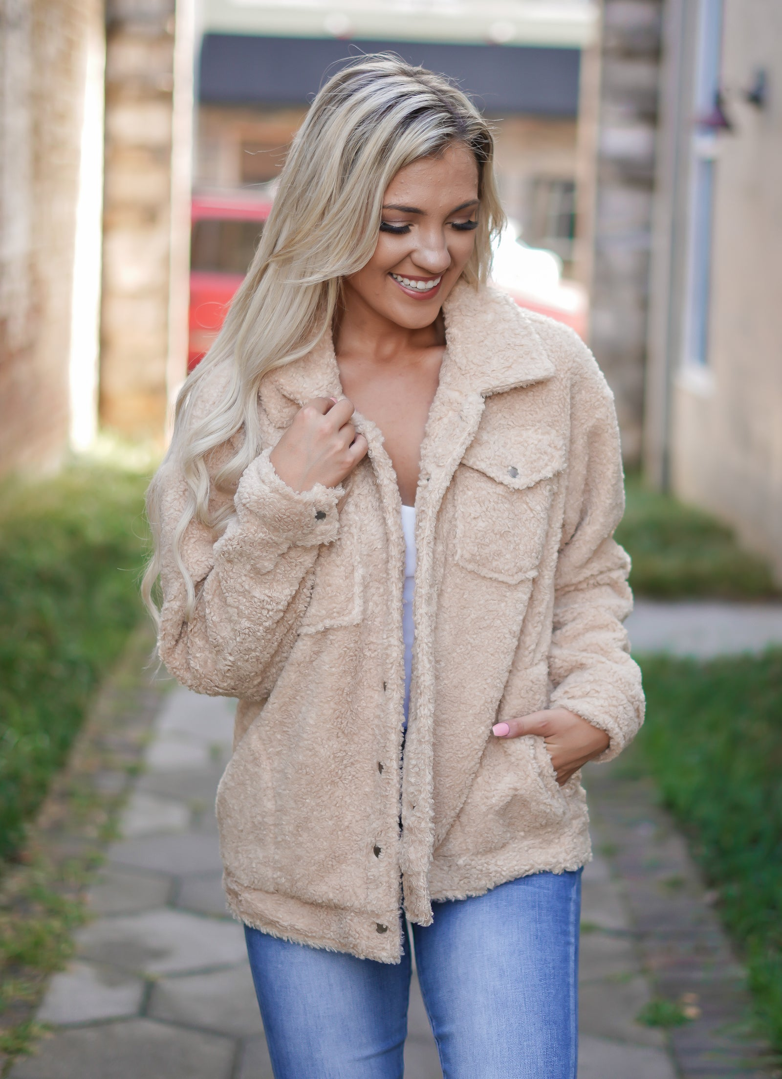 Sherpa Jacket - Golden