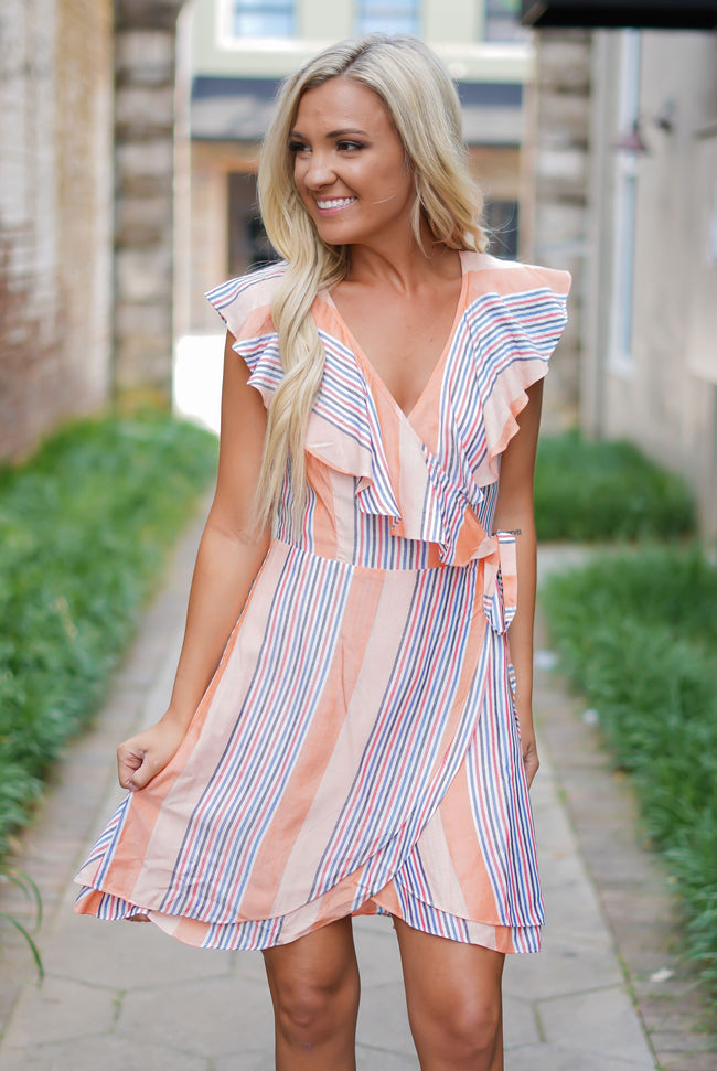 Stripes for the Summer Wrap Dress