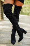 Judith Thigh High Boots - Black