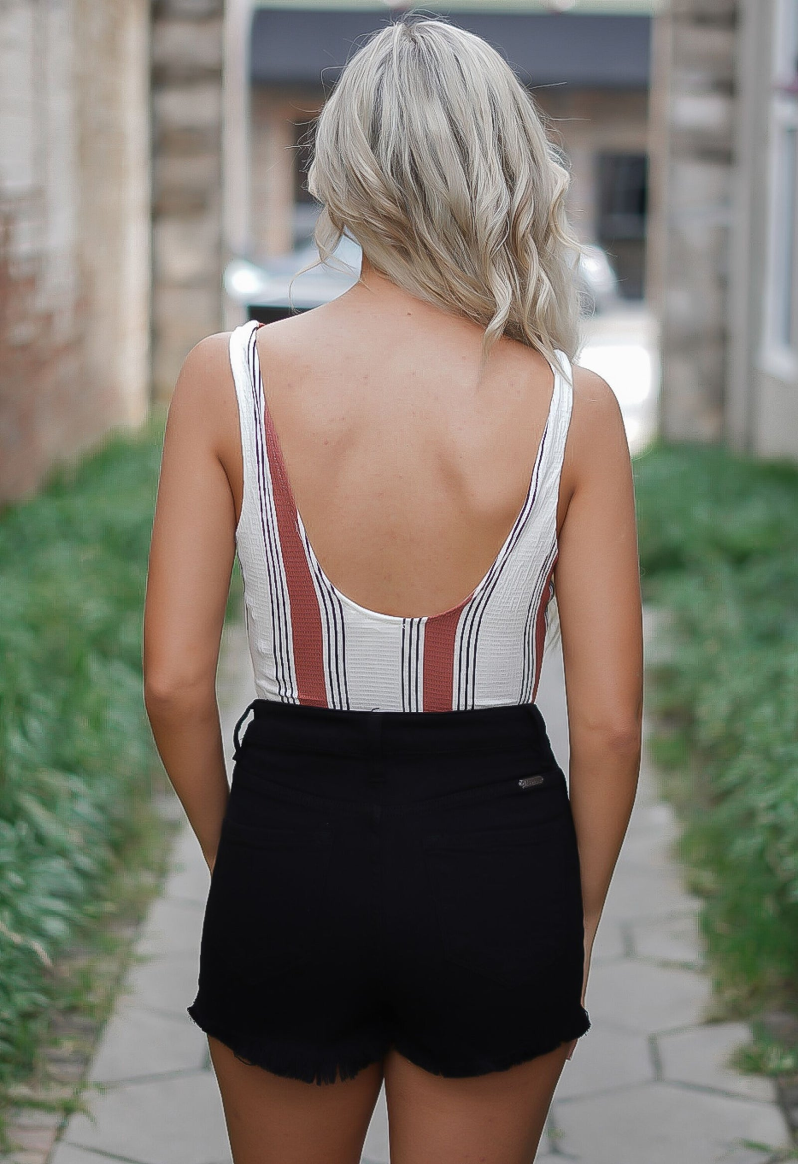Sweet and Sour Striped Bodysuit