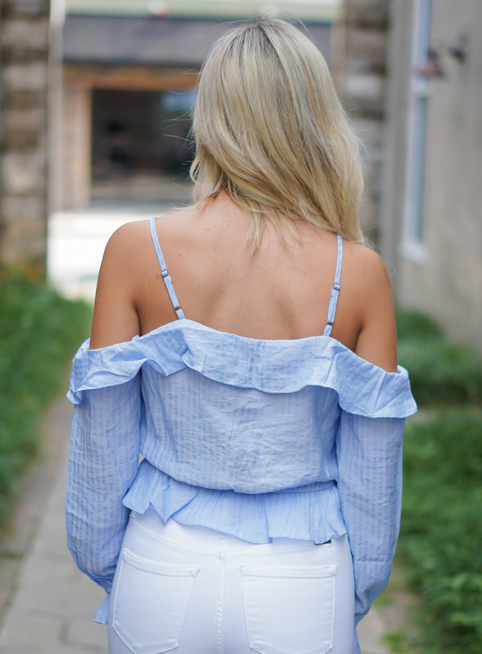 Havana Nights Top - Powder Blue