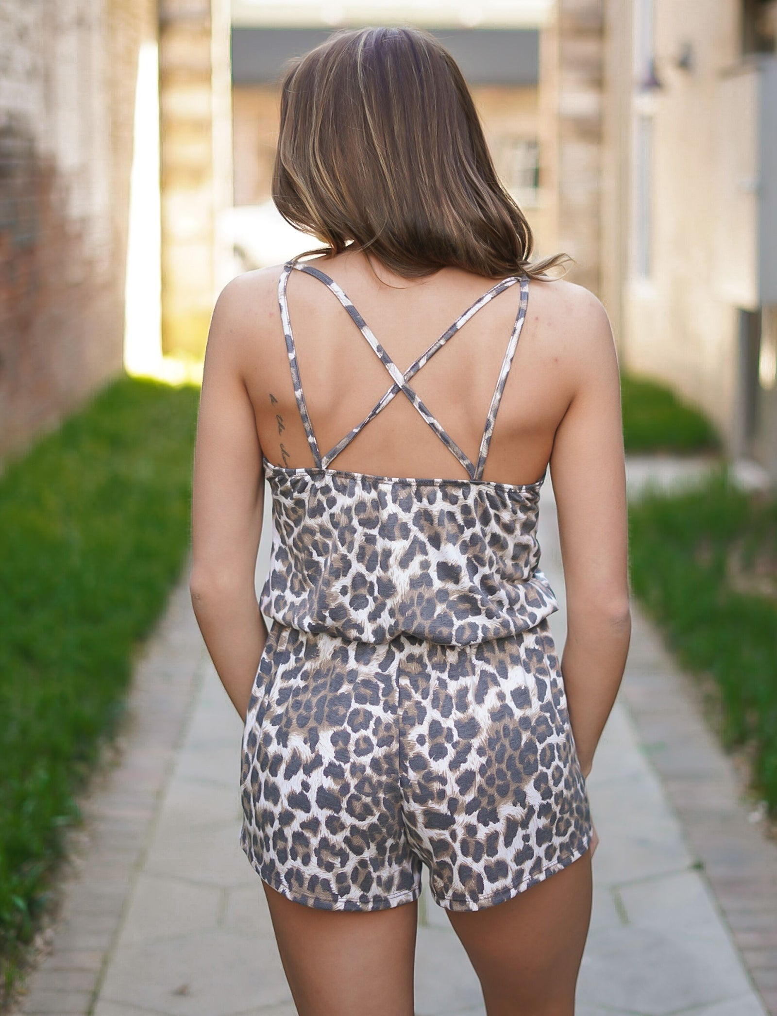 Laters Babe Leopard Romper