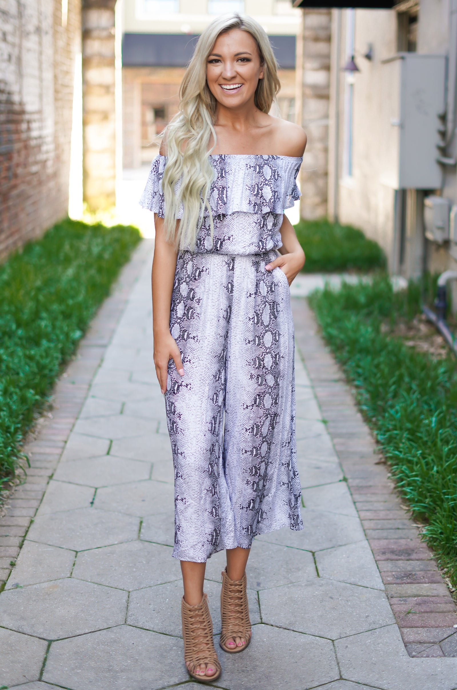 Lay Low Snake Jumpsuit