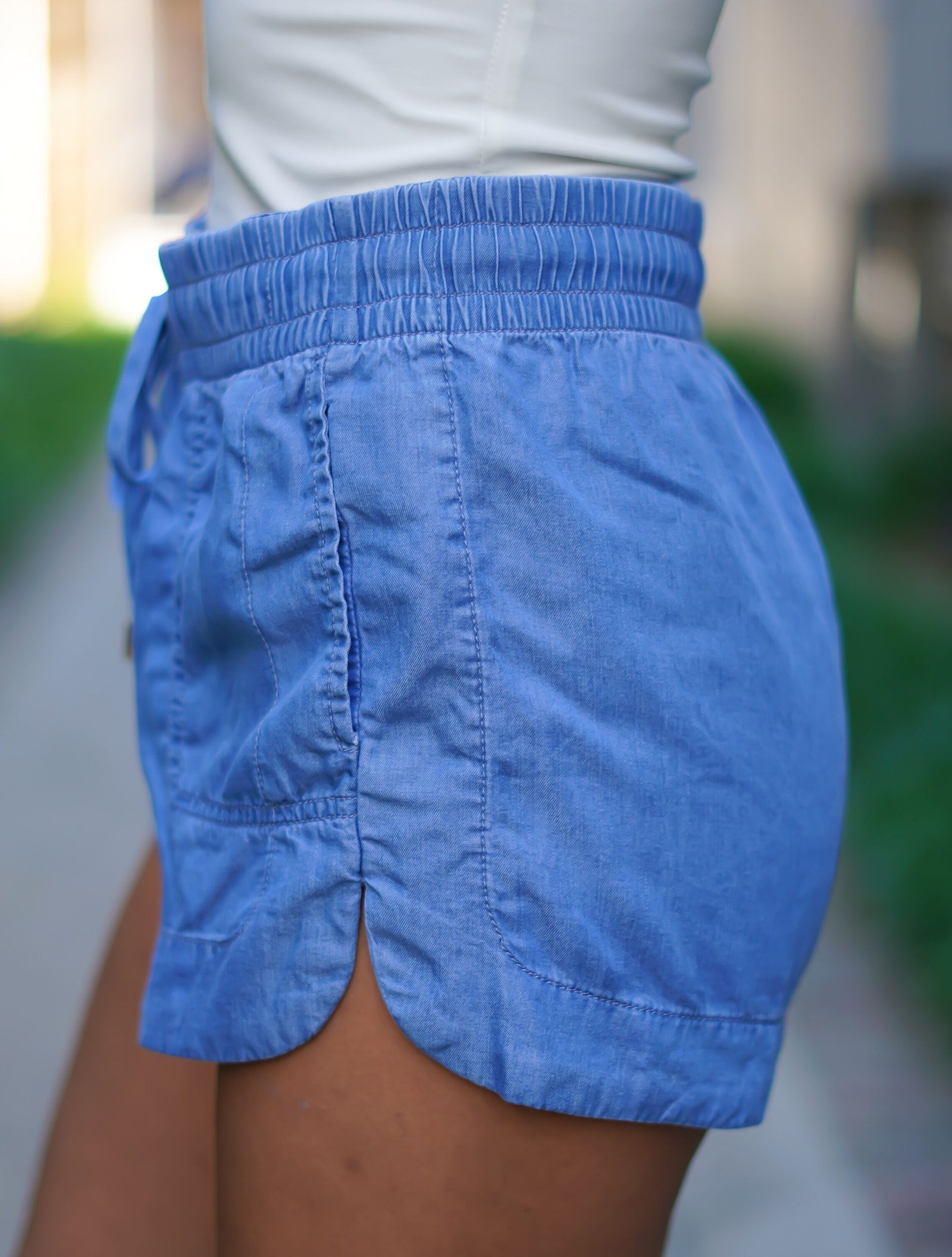 Cozy Denim Shorts