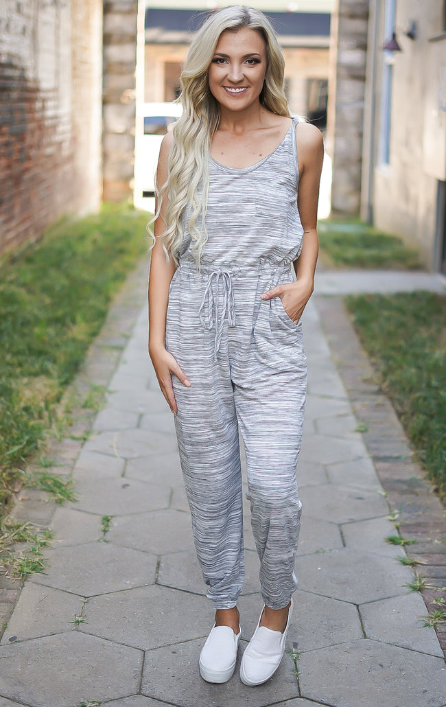 Back to Basics Jumpsuit -Grey