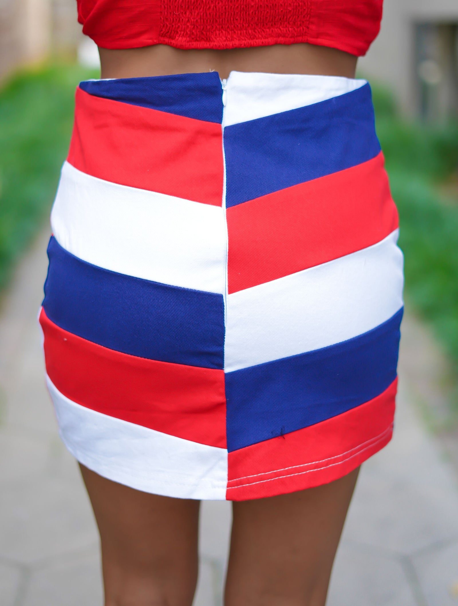 Red, White and True Skirt