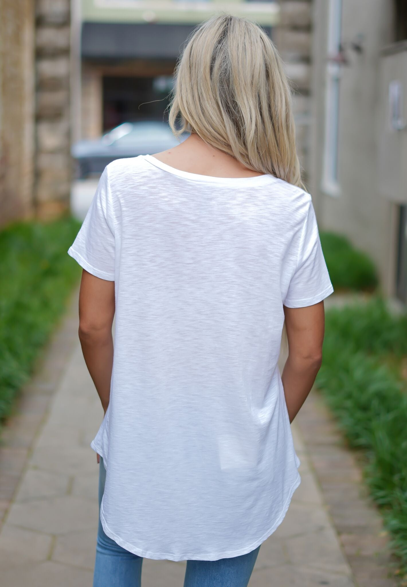 Flip Flop Pocket Tee - White