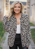 Leopard Denim Jacket