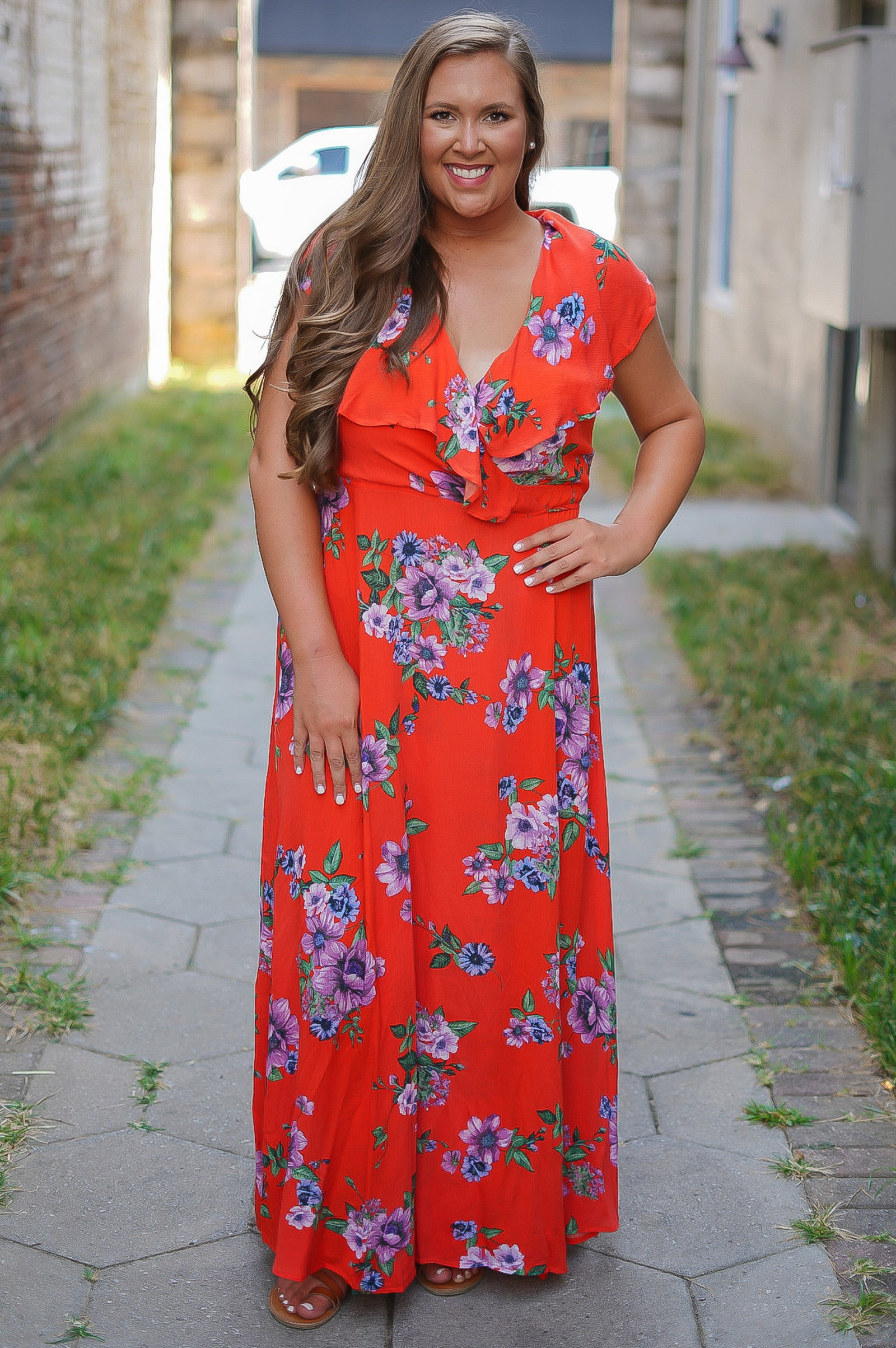 Dance with Me Wrap Dress - Orange