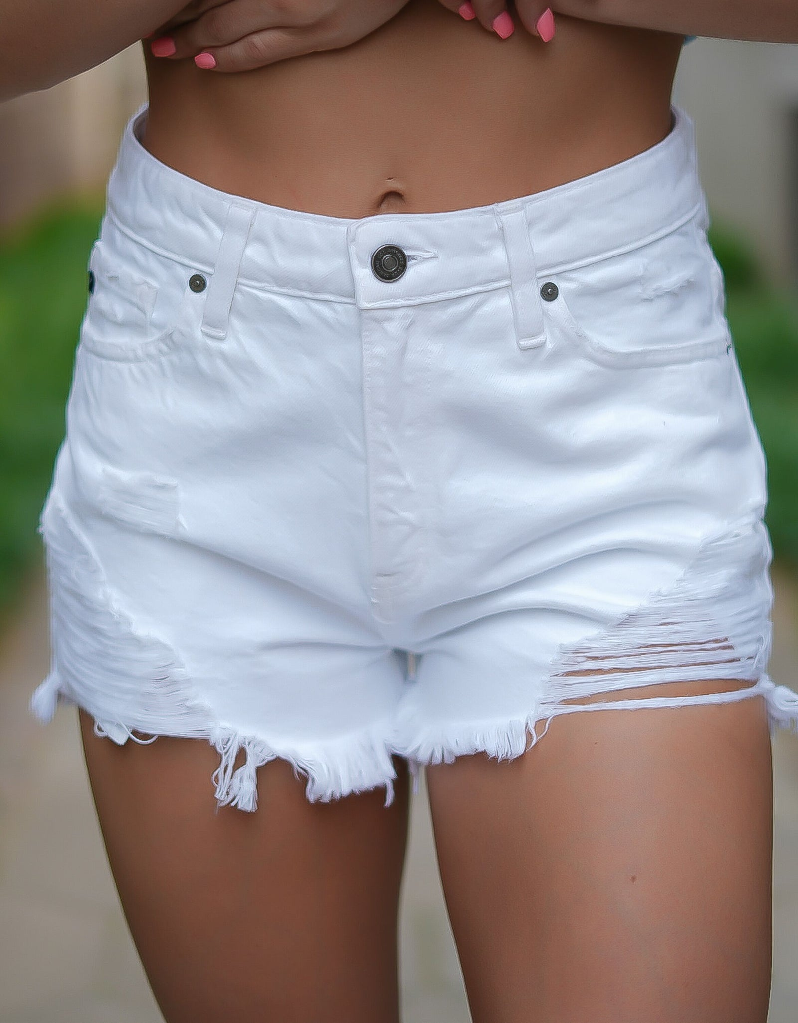 Weslie White Shorts