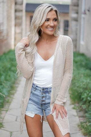 Get Your Shine On Sweater - Cream