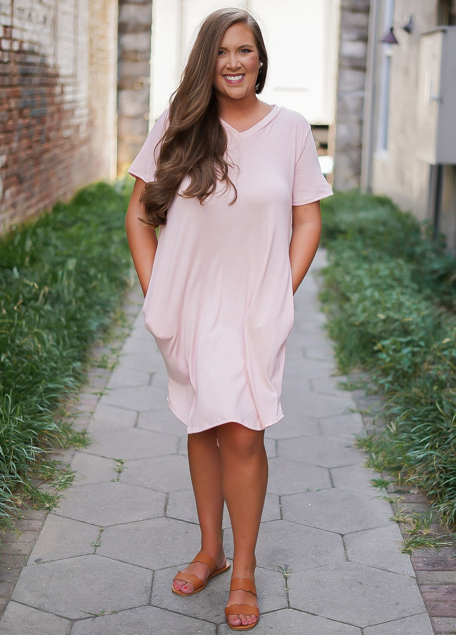T-Shirt Dress - Blush