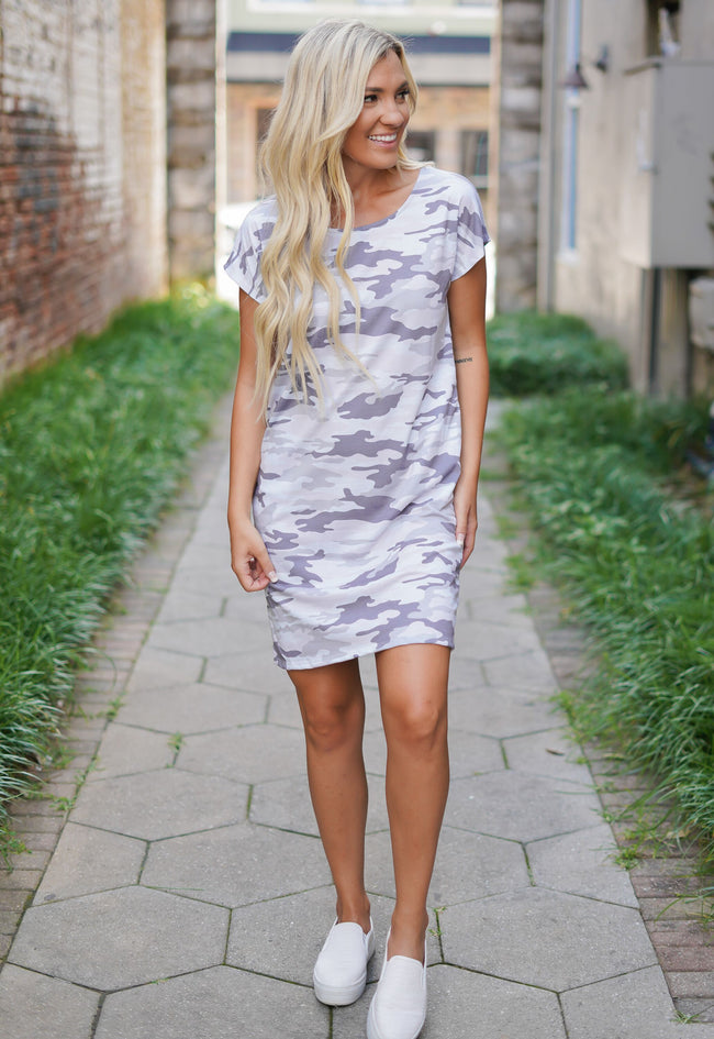 Georgia Grey Camo Dress