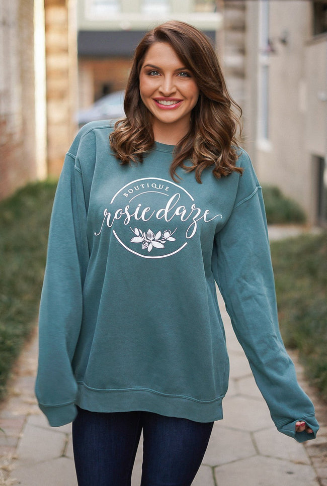 Rosie Daze Logo Sweatshirt - Willow